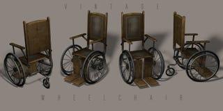 Roczników wózek inwalidzki Zdjęcia Royalty Free