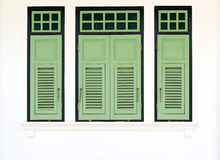 Roczników zieleni okno Fotografia Royalty Free