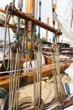 Rocznik łodzie dokują przy Wiktoria Klasycznym Łódkowatym festiwalem Zdjęcia Stock
