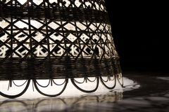 Rocznik łozinowa lampa obraz stock