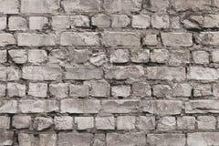 Rocznik ściany z cegieł popielata tekstura Bia?y stary cement ?ciany t?o Wzór z szarość obdrapanymi cegłami Pustego miejsca beton obrazy stock