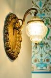 Rocznik ścienna lampa Obrazy Royalty Free