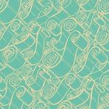 Rocznik ślimacznicy i faborki Tapetowy Bezszwowy Wzór Obraz Stock