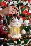 Rocznik świeczki stylowy lampion dla bożych narodzeń zdjęcie royalty free