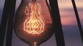 Rocznik żarówka iluminuje zdjęcie wideo