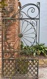 Rocznik, antykwarska ogrodowa brama Zdjęcia Stock