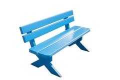 Rocznik błękitna drewniana ławka Obraz Royalty Free