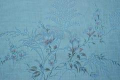 Rocznik błękitna tapeta z winieta wiktoriański wzorem Obrazy Royalty Free