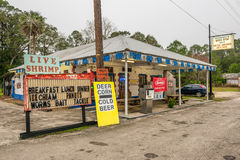 Rocznik benzynowa pompa na USA autostradzie 19, Floryda Obraz Stock