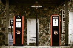 Rocznik benzynowa stacja Obrazy Royalty Free