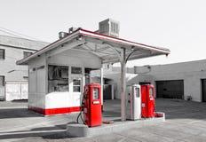 Rocznik benzyny stacja Zdjęcie Royalty Free