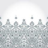 Rocznik bezszwowa granica z koronkowym ornamentem. ilustracja wektor