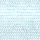 rocznik bezszwowy wzoru Horyzontalni warkocze i pociągany ręcznie linie royalty ilustracja