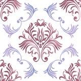 rocznik bezszwowy wzoru Kwiecista ozdobna tapeta Wektoru adamaszkowy tło z dekoracyjnymi ornamentami i kwiaty w baroku projektuje royalty ilustracja