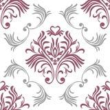 rocznik bezszwowy wzoru Kwiecista ozdobna tapeta Wektoru adamaszkowy tło z dekoracyjnymi ornamentami i kwiaty w baroku projektuje ilustracji