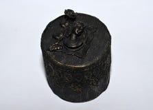 Rocznik biżuterii stylowy round pudełko Obrazy Royalty Free