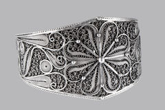 Rocznik biżuterii srebna kolia Obrazy Royalty Free