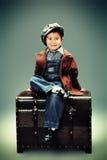 Rocznik chłopiec Fotografia Stock