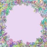 Rocznik chryzantemy multicolor nakreślenie Zdjęcia Stock