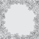 Rocznik chryzantemy nakreślenie Wręcza patroszonego tło, rama z chryzantema kwiatem Obraz Royalty Free