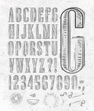 Rocznik chrzcielnicy listy royalty ilustracja
