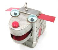 Rocznik cyny zabawki przestrzeni pies Zdjęcie Royalty Free