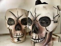 Rocznik czaszki kubki Fotografia Royalty Free