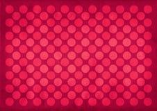 Rocznik czerwieni okregów wzór Zdjęcia Stock