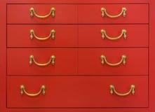 Rocznik czerwona klatka piersiowa kreślarzi Fotografia Royalty Free