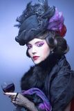Rocznik dama. obraz royalty free