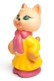 Rocznik damy kota gumowa zabawka Zdjęcia Royalty Free