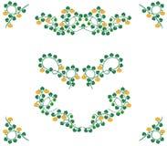 Rocznik dekoraci dyniowi elementy zdjęcia royalty free