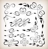 Rocznik dekoraci elementy Obraz Royalty Free