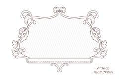 Rocznik dekoracyjna colligraphic rama prostokątny kształt ornament wykonuje w wiktoriański stylu dla projekta i druku Fotografia Stock