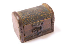Rocznik drewniana klatka piersiowa Zdjęcia Stock