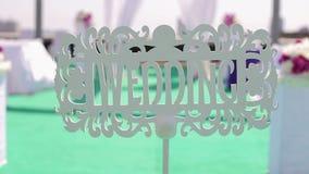 Rocznik drewniana plakieta z wpisowym ślubem zdjęcie wideo