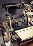 Rocznik Drukowej prasy maszyny zakończenie up Obraz Royalty Free