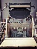Rocznik Drukowej prasy maszyny zakończenie up Obraz Stock