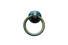 Rocznik drzwiowa gałeczka Odizolowywa, Tradycyjnego stylu Drzwiowa rękojeść Fotografia Stock