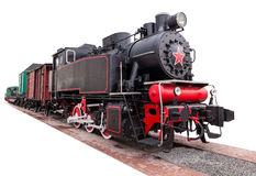 Rocznik, duży, kontrpara pociąg Zdjęcie Royalty Free