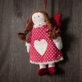Rocznik dziewczyny Bożenarodzeniowa handmade zabawka Fotografia Royalty Free