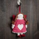 Rocznik dziewczyny Bożenarodzeniowa handmade zabawka Zdjęcie Stock