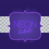 Rocznik elektryczna struktura z jaskrawymi neonowymi światłami Purpury światło z przejrzystą łuną również zwrócić corel ilustracj Obrazy Royalty Free