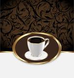 Rocznik etykietka dla opakunkowej kawy, filiżanka Zdjęcia Stock
