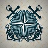 Rocznik etykietka z nautycznym tematem Zdjęcia Royalty Free