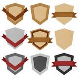 Rocznik odznaka i etykietka przetwarzający papier. Obraz Royalty Free