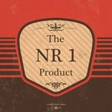 Rocznik etykietki projekt z Retro tłem ilustracja wektor