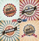 Rocznik etykietki tła ustawiający i Obraz Royalty Free