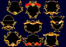 Rocznik etykietki. (z ornamentem wektor) () Zdjęcie Royalty Free