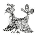 Rocznik fantazi stylizowany ptak Zdjęcie Royalty Free